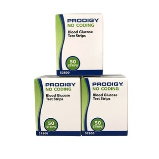 Prodigy Blood glucose Test Strips 50 Count Box