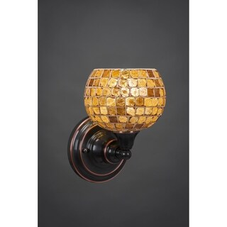 Toltec Black Copper Steel/Glass 1-light Wall Sconce