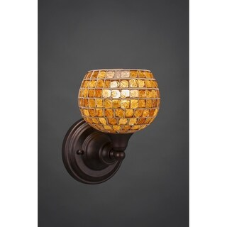 Toltec Bronze Steel 1-light Wall Sconce