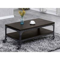 Best Quality Furniture Espresso Industrial Coffee Table