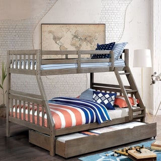 Furniture of America Gel Twin/Full 2-piece Bunk Bed w/ Trundle