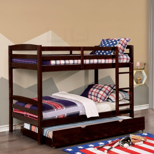 Furniture Of America Meyer 2 Piece Twin Bunk Bed With Trundle