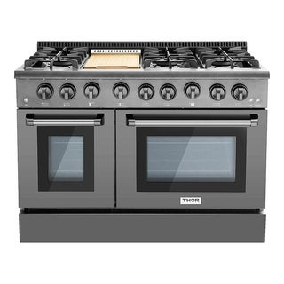 "Thor Kitchen - 48"" Professional Gas Range in Black Stainless Steel"