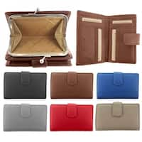 Faddism Multi purpose tri fold coin bag wallet with ID slot Model 107