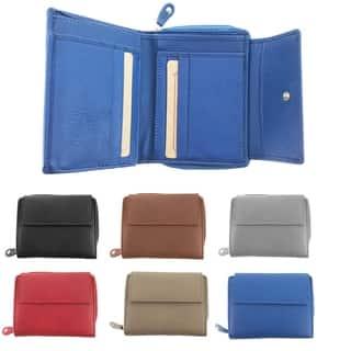 Faddism Multi purpose tri fold zipper wallet with ID slot Model 104