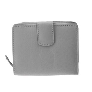 Faddism Multi purpose bi fold zipper wallet with ID slot Model 105