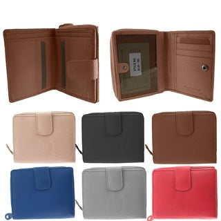 Faddism Multi purpose bi fold zipper wallet with ID slot Model 105