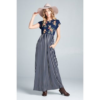Spicy Mix Kayden Floral Striped Maxi Dress
