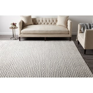Cora Hand Knotted Indoor Area Rug, Ivory