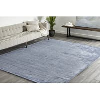 Maisie, Handmade Area Rug - Denim