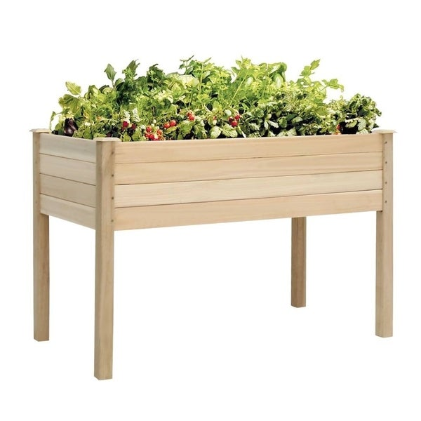 Shop Kinbor Wooden Raised Garden Bed Elevated Planter Kit Grow ... on fence for vegetables, raised beds for vegetables, wooden trellis for vegetables, greenhouses for vegetables, wooden containers for vegetables, planter boxes for vegetables,