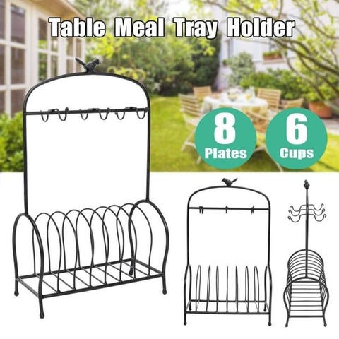 Birdcage Style Metal Kitchen Plate Storage Dish Drainer Rack 2 Colors