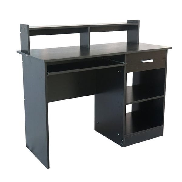 Small Computer Desk Home Office Pc Table Workstation W Shelves Keyboard Tray Uk