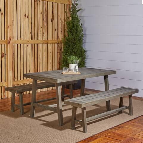 Renaissance 3-Piece Outdoor Patio Picnic Dining Set