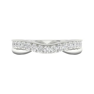 1/3ct TDW Diamond Contour Wedding Band in 10k Gold by De Couer