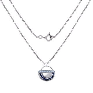 2.50 Carat Sapphire & Blue Topaz Sterling Silver Pendant By Orchid Jewerly