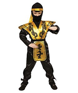 Deluxe Ninja Children's Costume Set (Option: Medium - Yellow)
