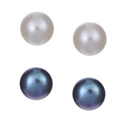 Cultured Freshwater Pearl Stud Earrings Set - Thumbnail 0