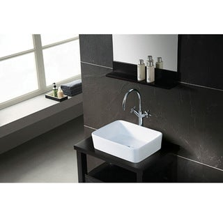 French Petite White Vessel Sink
