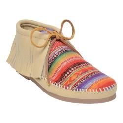 Women's Minnetonka Frisco Deerskin Ankle Boot Champagne Deerskin Leather