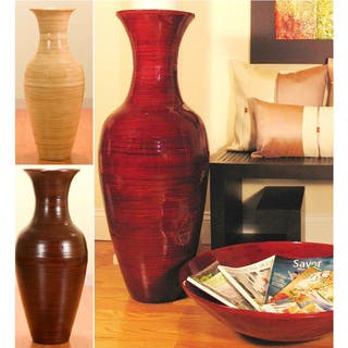 36 Inch Bamboo Tall Floor Vase