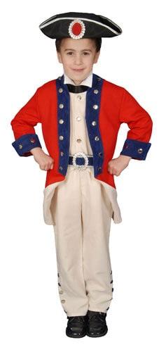 Deluxe Colonial Soldier Children's Costume Set