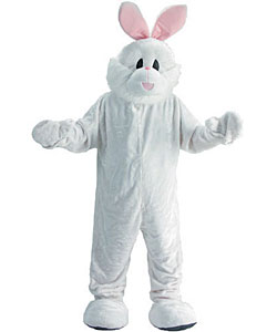Cozy Easter Bunny Mascot Adult Costume