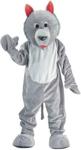 Hungry Wolf Mascot Adult Costume