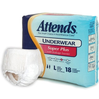 Attends Super Plus Underwear (Case of 72)