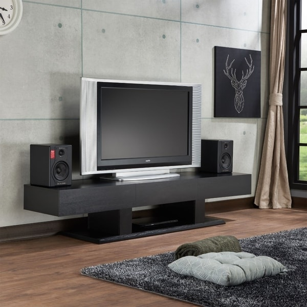 Shop Rectangular Wooden Tv Stand With 3 Drawers And Open Compartment