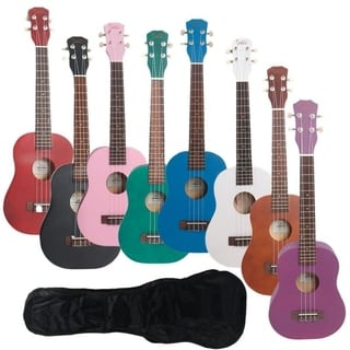 "Link to Glarry UK102 23"" 8 Colors Rosewood Fingerboard Basswood Concert Ukulele With Bag Similar Items in Guitars & Amplifiers"