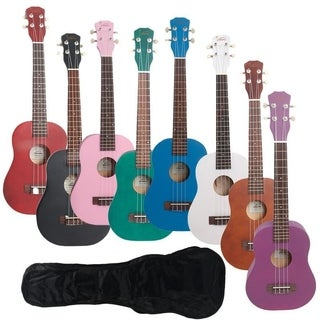 "Glarry UK102 23"" 8 Colors Rosewood Fingerboard Basswood Concert Ukulele With Bag"