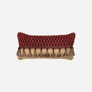 "Croscill Roena 22x11"" Tassel Trimmed Boudoir Pillow"