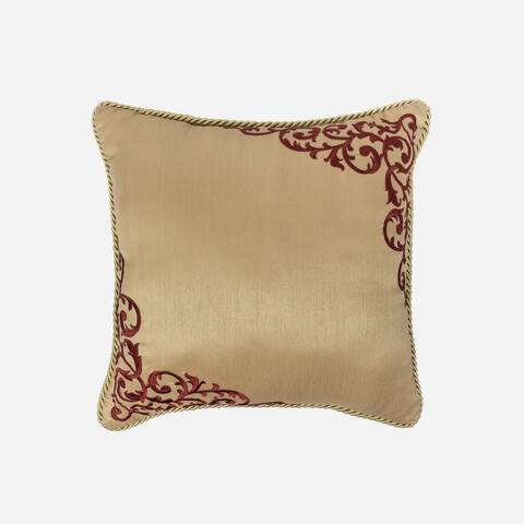 "Croscill Roena 16"" Embroidered Fashion Pillow"