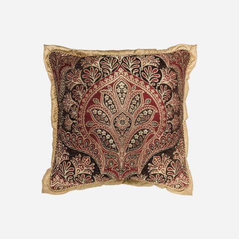 "Croscill Roena 18"" Chenille Square Pillow"