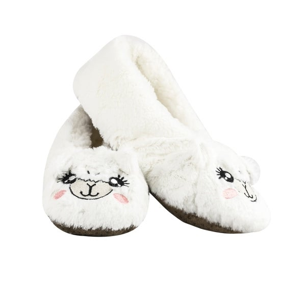 50f18ed08fe4 Shop Shea Butter Animal Slippers Non-Skid Fuzzy