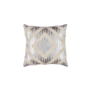 Silver Orchid Reisenhofer Geometric Linen Pillow