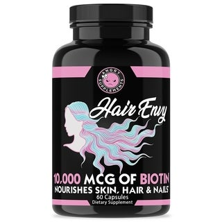 Angry Supplements Hair Envy 10,000 mcg Biotin and Keratin (60 Count)