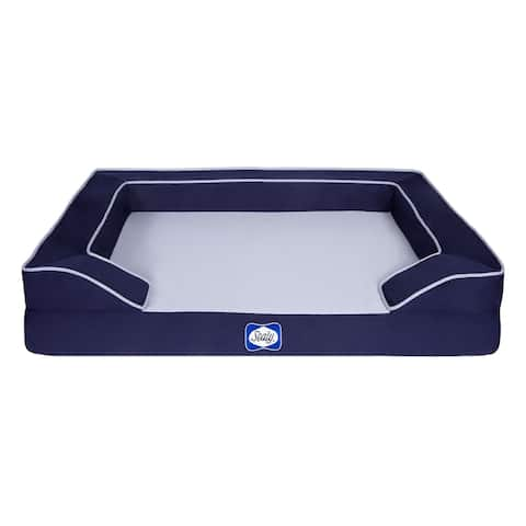 Sealy Lux Premium Orthopedic and Memory Foam Dog Bed, Navy