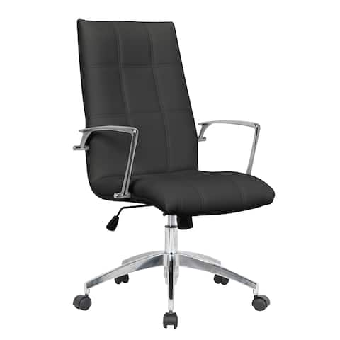 LeisureMod Benmar Modern High-Back Executive Leatherette Office Chair