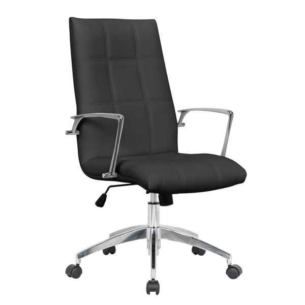 LeisureMod Benmar Modern High-Back Executive Leatherette Office Chair