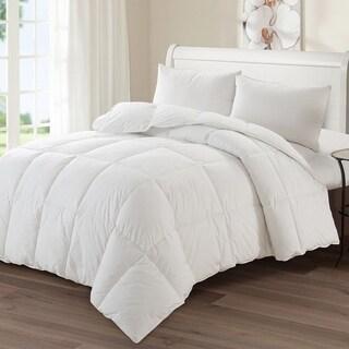 Luxury Goose Down-Polyester Medium Warmth Comforter