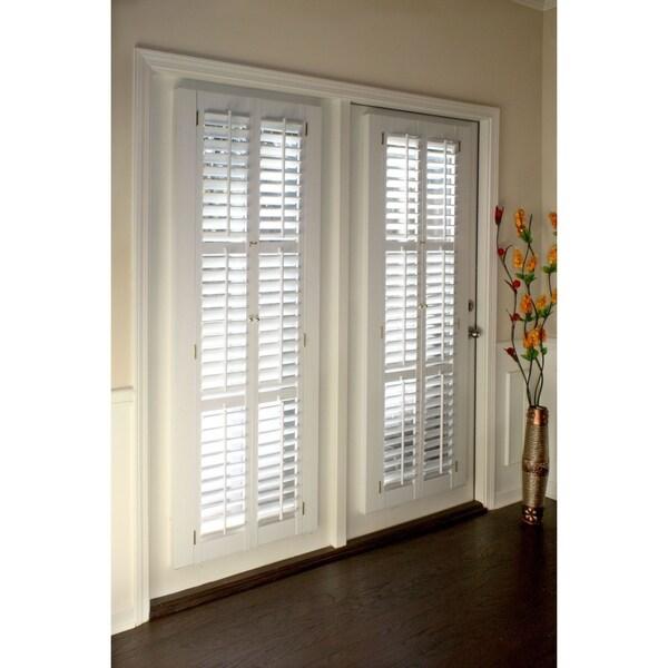 Window Treatments Hardware White Plantation Faux Wood Shutter Interior Blinds Shade Panel Home Decor