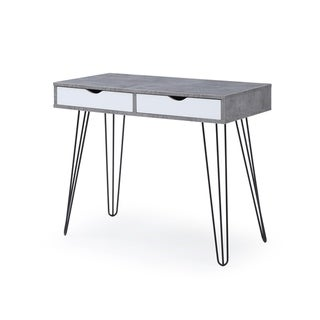 Laurel Grey Mid-century Modern 2-drawer Home Office Desk