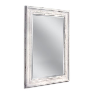 Headwest 31 x 43 Frarmhouse White Wall Mirror - 31 x 43