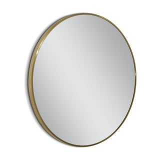 Headwest 35 in. Spectrum Gold Metal Circle Wall Mirror - 35 inch