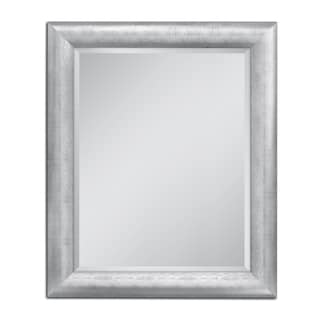 Headwest 28 x 34 Chrome Pave Weave Wall Mirror - 28 x 34