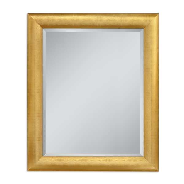 Headwest 28 x 34 Gold Pave Weave Wall Mirror - 28 x 34