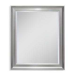 Headwest 27 x 33 Malibu Transitional Titanium Wall Mirror - 27 x 33
