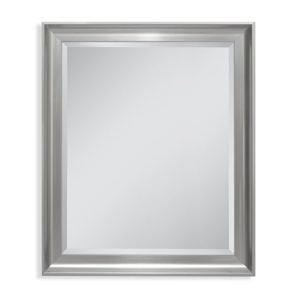 Headwest 27 x 33 Malibu Transitional Titanium Wall Mirror - 27 x 33